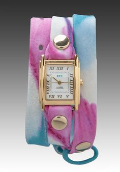 La Mer Malibu Tie Dye Watch in Gold