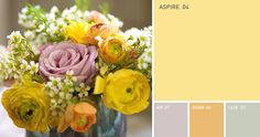We love using spring flowers as color inspiration.