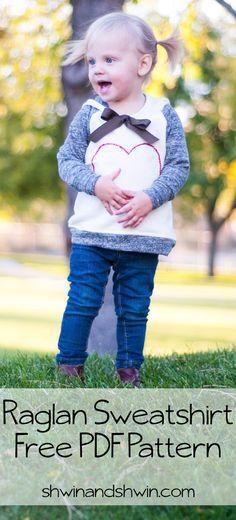 Tolle kostenlose Anleitung für einen Kinder-Kapuzenpullover. Gratis Schnittmuster für den Pulli ist auch mit dabei. Hübsches Sweatshirt für Kids!
