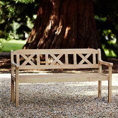 Buy LG Outdoor Hanoi 3 Seat Crossback Bench FSC Certified Acacia