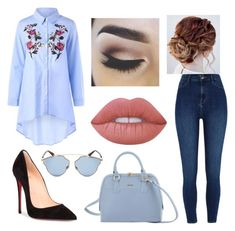 """""""Untitled #3"""" by regimoroz on Polyvore featuring River Island, Christian Louboutin, Lime Crime and Christian Dior"""