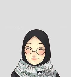 The actual scarf is the central element while in the clothes of females having hijab. Hijab Drawing, Islamic Cartoon, Hijab Cartoon, Islamic Girl, Muslim Girls, Muslim Women, Anime Love Couple, Cute Cartoon Wallpapers, Anime Art Girl