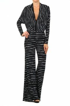 #salediem #springwardrobe #jumpsuits Wide leg jumpsuit with long dolman sleeve