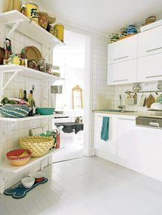 Linda cocina, super blanca!