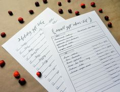 Holiday Gift Organization Printables + Cold Weather Favorites