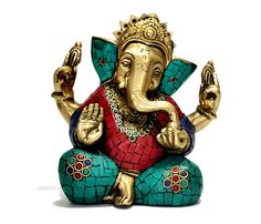 Antique Lord Ganesha Statue, Rare Coral Ganesh Sculpture, Indian Handicraft Collectable Gift on Etsy, $147.00