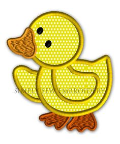 Walking Duck Applique Machine Embroidery by SimplySewEmbroidery, $2.99