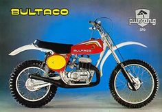 1977 Bultaco 370 Pursang , these bikes were pretty fast however suspension wasn't that great on the rear.