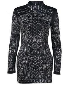 Geometric Studded Dress
