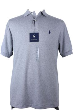 NWT Polo Ralph Lauren Mens Shirt sz S M L Classic Fit Pony Logo Cotton Gray  NEW #
