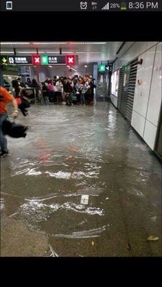 Flooding mtr train