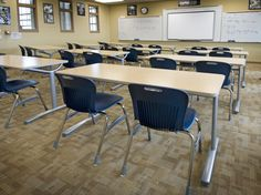 Text Series training tables are perfect student desks for the modern classroom.