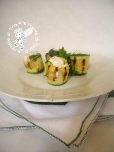 Involtini di zucchine con gamberi e robiola