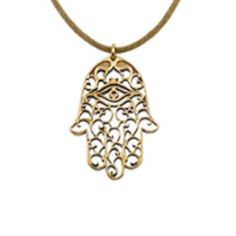 Small Hamsa Necklace. The open-hand hamsa symbol is an ancient symbol of peace, blessings, strength and good luck.