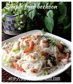 Tasty Whie Fried White Bee Hoon (Rice vermicelli) recipe  #guaishushu   #Kenneth_goh  #white_bee_hoon