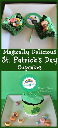 These Lucky Charms Cupcakes are really Shamrock Surprise cupcakes because the marshmallows are hidden inside! They are magically delicious!