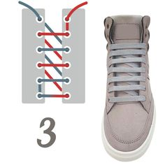 10 original ways to tie your laces (No. Ways To Lace Shoes, How To Tie Shoes, Style Masculin, Tie Shoelaces, Fashion Shoes, Mens Fashion, Lace Patterns, Diy Clothes, Me Too Shoes