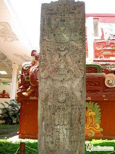 Stelae in Copan Mayan Ruins of Honduras