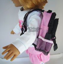 """Pink Backpack for School Supplies  made for 18"""" American Girl Doll Clothes"""