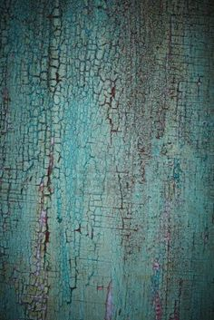 Turquoise weathered wood texture