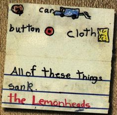 910cc7a7e9e7b Shop the 1996 US Vinyl release of Car Button Cloth by The Lemonheads at  Discogs.