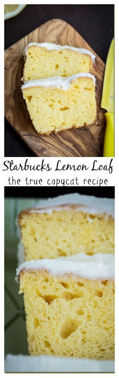 There's a reason why this cake got pinned more than than 55K times. Fluffy, yet dense, yet moist with a delicious lemony glaze this Starbucks Lemon Coffee Cake will knock your socks off! by LetTheBakingBeginBlog. com