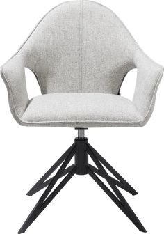 Lola, armstoel + greep + gasveer - metaal off black - stof lady Modern Retro, Home Office, Chair, Grey, Furniture, Home Decor, Products, Gray, Decoration Home