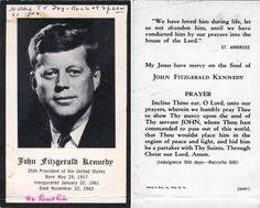 Kennedy Prayer Cards MINT 50 Vintage President John F