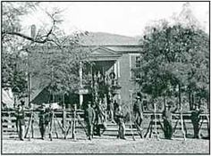 Union soldiers at Appomattox Court House.