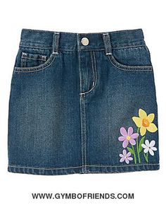 NWT Gymboree - Daffodil Garden - Gem Flower Jean Skort - Size 4 - 1 available - $15 shipped
