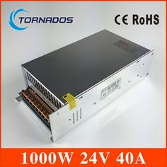 93.10$  Buy now - http://alifd5.shopchina.info/go.php?t=32804823175 - Single Output DC24V 40A 1000W Switching Power Supply AC DC 24V Converter Voltage Transformer SMPS for LED Strip light S-1000-24 93.10$ #aliexpress