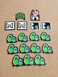 Mario perler bead sprites