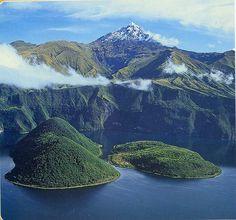 Laguna de Cuicocha, Cotacachi, Ecuador. One of my the most beautiful places I've ever seen.