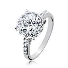 Beautiful engagement ring.