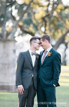 44 Stylish Gay Groom Outfits That Inspire - Weddingomania Galveston, Wedding Photoshoot, Wedding Pictures, Groom Outfit, Groom Attire, Cute Gay Couples, Lesbian Wedding, Love And Marriage, Wedding Inspiration