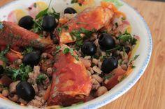 Salada de Feijão Frade com Sardinhas