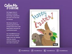 New Coloring Page: Easter Bunny 16 - Color Me Announcements - Color Me Forum