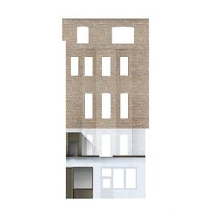 This proposal, a restoration, conversion and extension of a characterful listed Georgian town house in Marylebone, is characterised by its careful. Architecture Collage, Architecture Graphics, Architecture Drawings, Architecture Plan, Residential Architecture, Architecture Details, Arch Interior, Interior Design, Architectural Materials