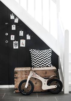 nice black side of the staircase interior, stair, black walls, decorating bathrooms, decor bathroom, black white, hallway, bathroom decor, kid