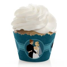 Wedding Couples Dark Teal - Cupcake Wrappers (set of 12) by Big Dot of Happiness, LLC, http://www.amazon.com/dp/B00BPA8LM8/ref=cm_sw_r_pi_dp_DCwcsb1ZF9E1K