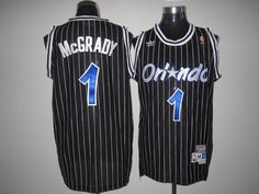 0971cb6fb Mitchell And Ness Magic  1 Tracy Mcgrady Stitched Black Throwback NBA Jersey  Throwback Nba Jerseys
