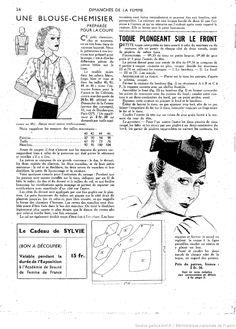 vintage pattern ladies' hats
