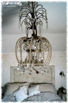 Es war einmal Shabby Style, Shabby Chic, Chandelier, Ceiling Lights, Vintage, Home Decor, Old Furniture, Kid Furniture, Bedrooms