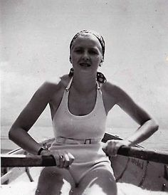 """Hitler's lover, Eva Braun, in 1934. She was then 22 years old and desperately in love with a man who was still not yet truly in love with her. As she wrote in her diary in 1935, """"he has so often told me he is madly in love with me, but what does that..."""
