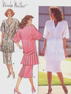 80s Nicole Miller Butterick Sewing Pattern 4820 by CloesCloset, $10.00