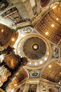 The great historic country Rome is a city and special commune in Italy. Rome is the capital of Italy and al. Beautiful Architecture, Beautiful Buildings, Art And Architecture, Beautiful Places, Renaissance Architecture, Kirchen Design, Basilica San Pedro, Places To Travel, Places To See