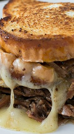Tavern Style Pot Roast Grilled Cheese Recipe ~ This is good stuff!