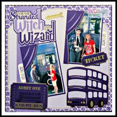 Scrap Your Memories 2 Blog Hop-Using Stranded Witch or Wizard Layout