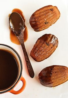 Sticky Date Madeleines with Butterscotch Sauce by raspberri cupcakes