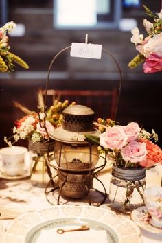 vintage table decor - stylized shoot designed + produced by @Petite Pearl Events.
